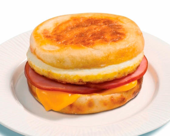 Egg, Ham, and Cheese Breakfast Sandwich